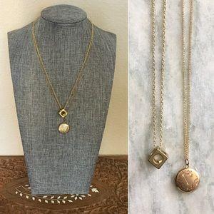 Vintage Brass & Gold Necklace Set